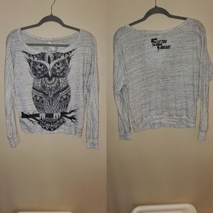 Graphic owl long sleeve